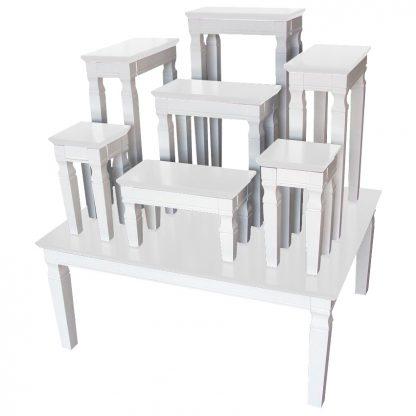 P00705 โต๊ะหมู่7 ขาว